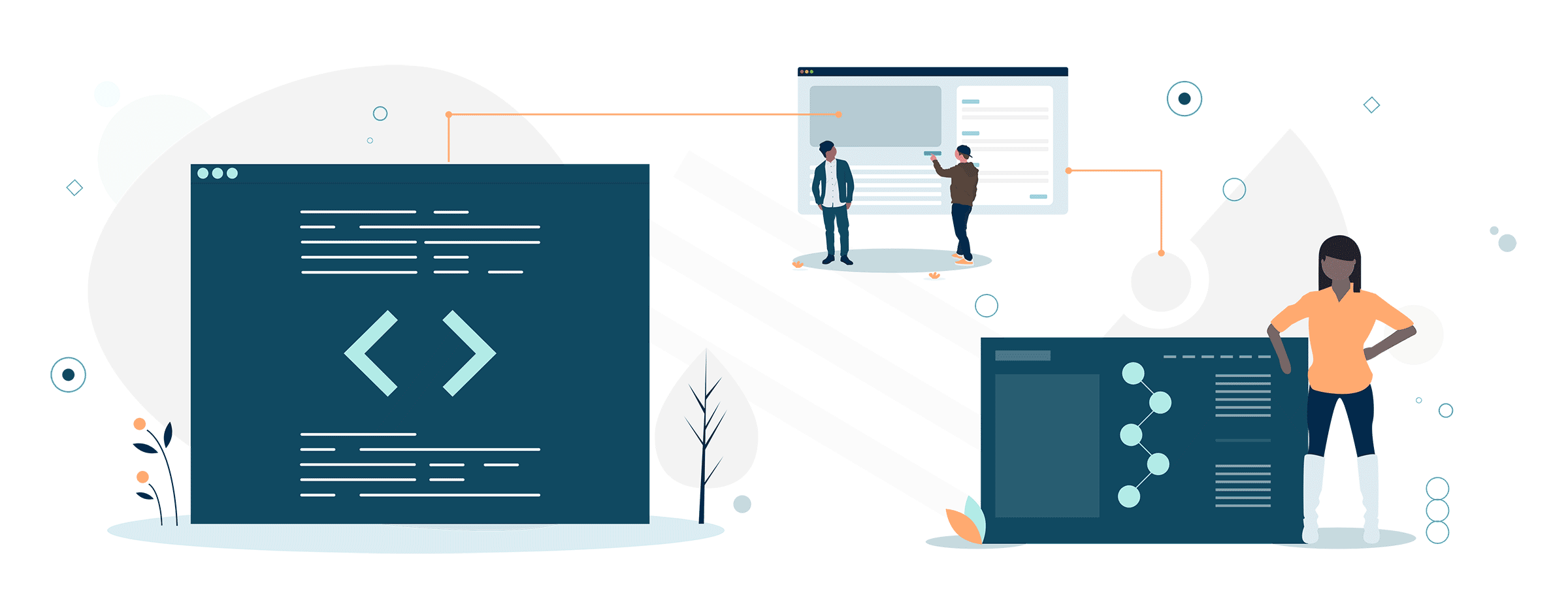Elemental Concept - Software Development Illustration